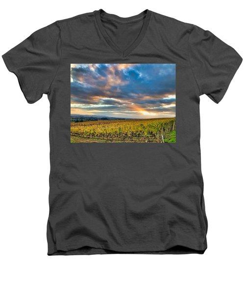 Willamette Valley In Fall Men's V-Neck T-Shirt