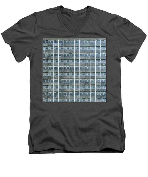 Windows Pattern Modern Architecture Men's V-Neck T-Shirt