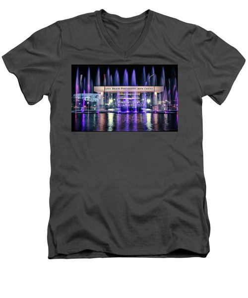 Winter At Long Beach Performing Arts Men's V-Neck T-Shirt