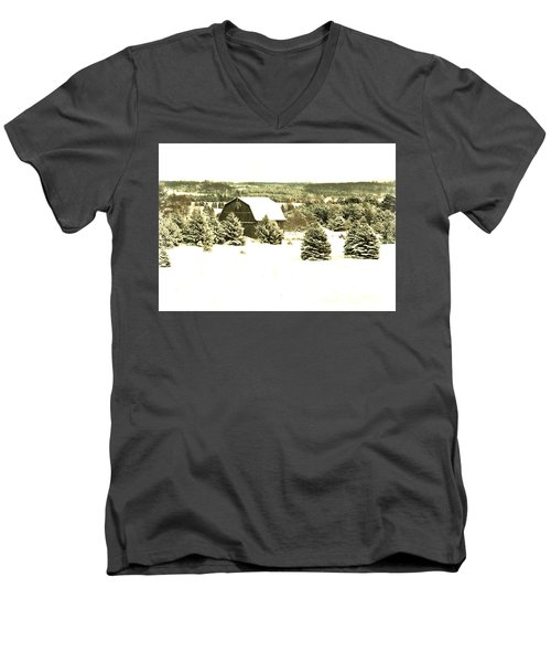 Winter Barn Men's V-Neck T-Shirt