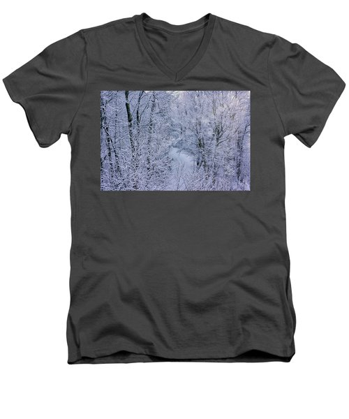 Winter Ice Storm Men's V-Neck T-Shirt