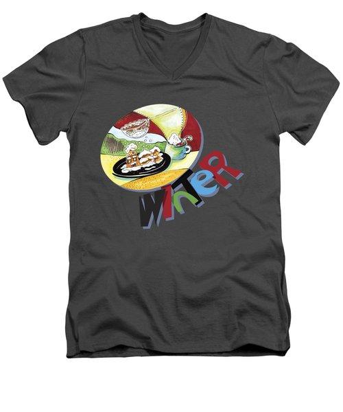 Winter Snack2 Men's V-Neck T-Shirt