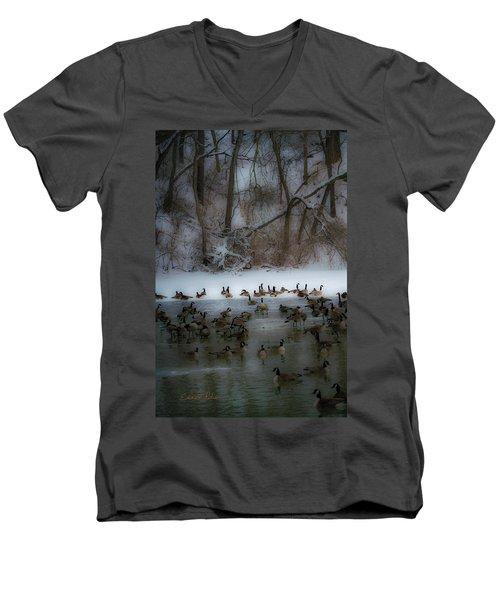 Winter Swim Men's V-Neck T-Shirt