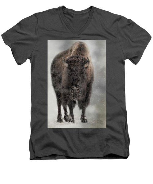 Winter Warrior Men's V-Neck T-Shirt