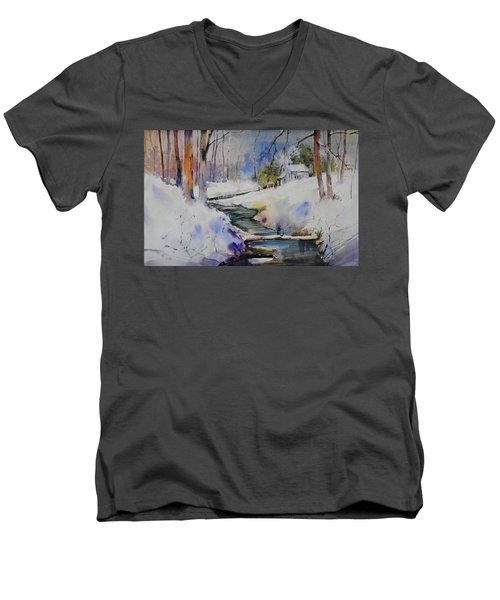 Winter Wilderness Men's V-Neck T-Shirt