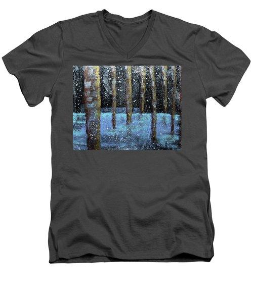 Wintry Scene I Men's V-Neck T-Shirt