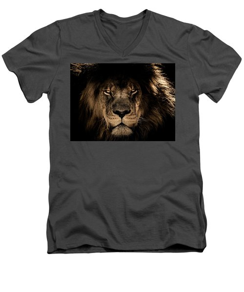 Wise Lion Men's V-Neck T-Shirt