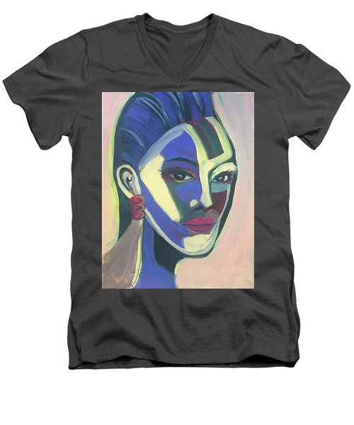 Woman Of Color Men's V-Neck T-Shirt