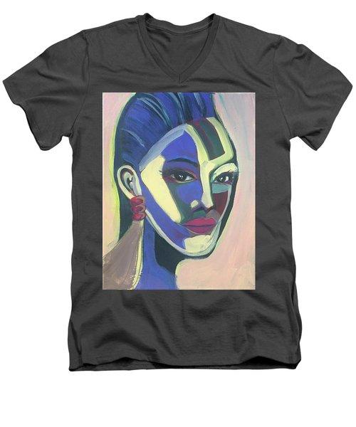 Woman Of Color Men's V-Neck T-Shirt