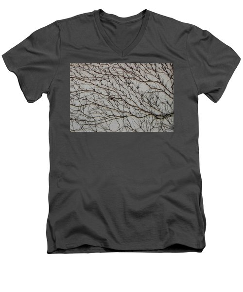 Men's V-Neck T-Shirt featuring the photograph Woodbine by Attila Meszlenyi