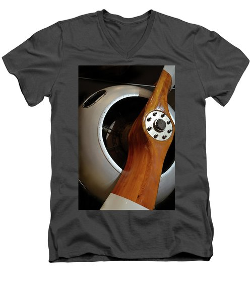 Wooden Propeller Men's V-Neck T-Shirt
