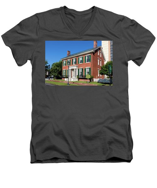 Woodrow Wilson Boyhood Home - Augusta Ga 3 Men's V-Neck T-Shirt