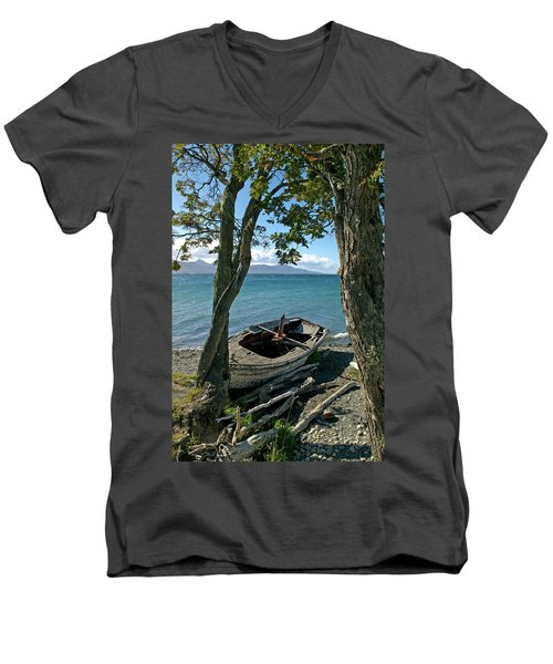 Wrecked Boat Patagonia Men's V-Neck T-Shirt