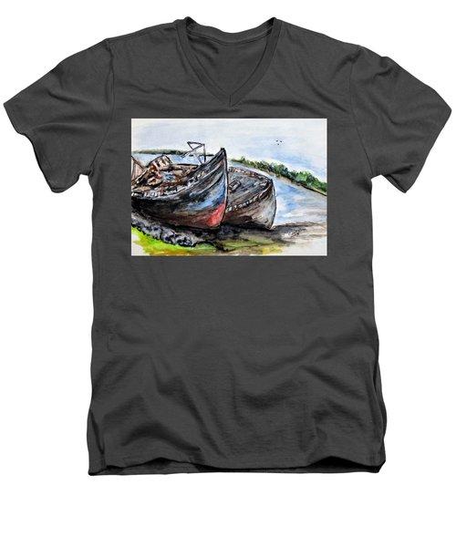 Wrecked River Boats Men's V-Neck T-Shirt
