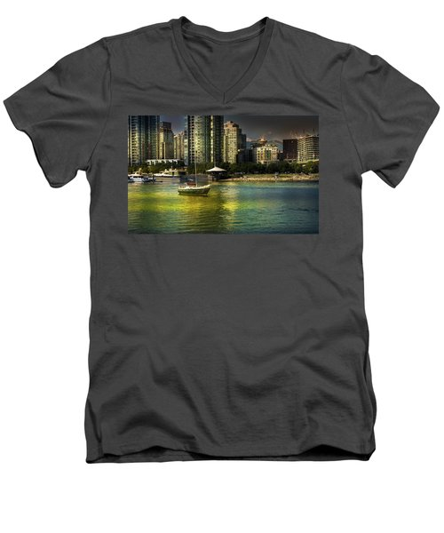 Yaletown Sunset Men's V-Neck T-Shirt