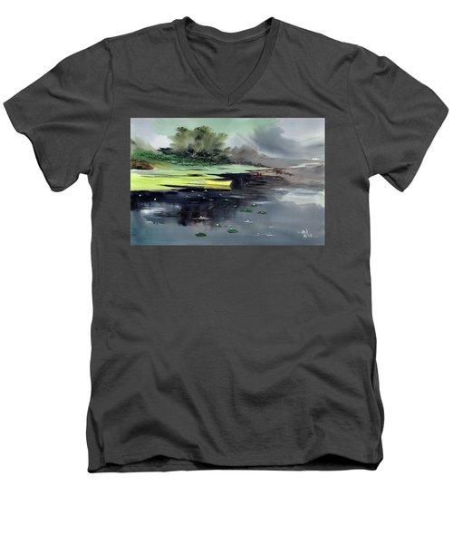Yellow Boat Men's V-Neck T-Shirt