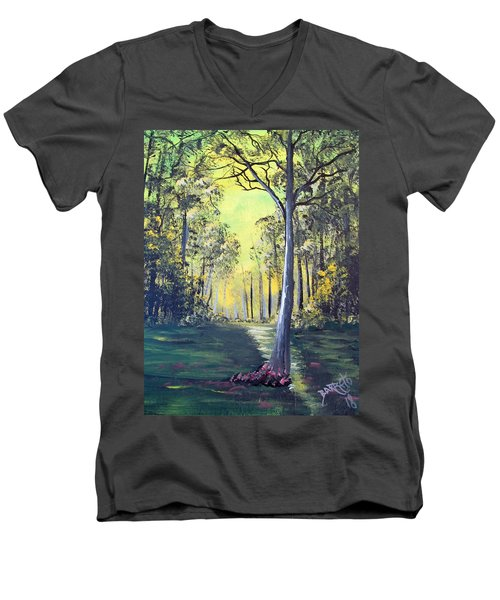 Yellow Forrest Men's V-Neck T-Shirt