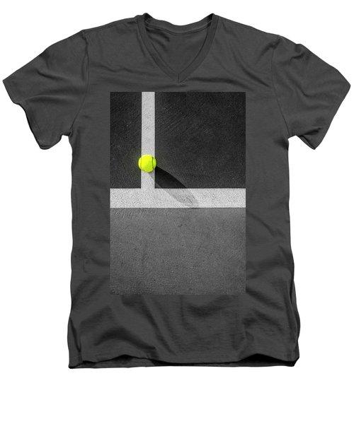Yellow On The Line Men's V-Neck T-Shirt
