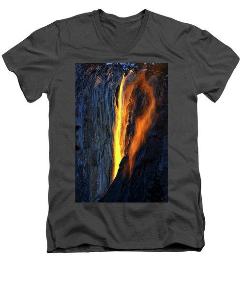 Yosemite Fire And Ice Men's V-Neck T-Shirt