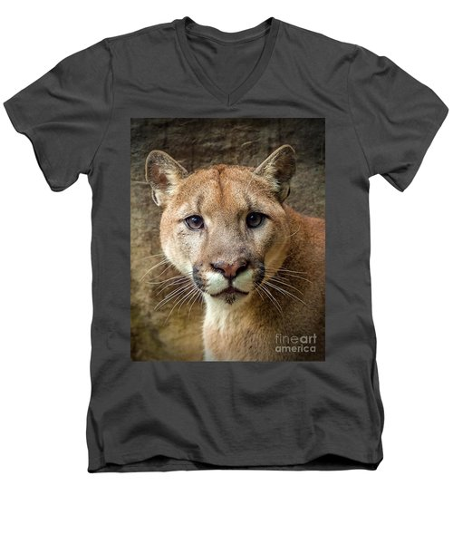 Young Puma Men's V-Neck T-Shirt