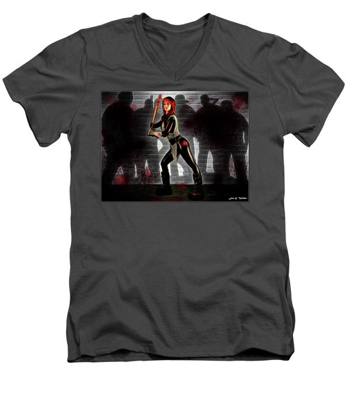 Zombie Hunter Men's V-Neck T-Shirt