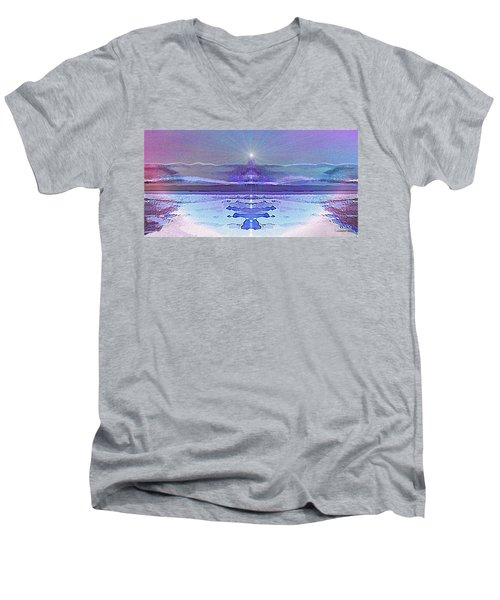 934 - Magic Light Beacon 2017 Men's V-Neck T-Shirt by Irmgard Schoendorf Welch