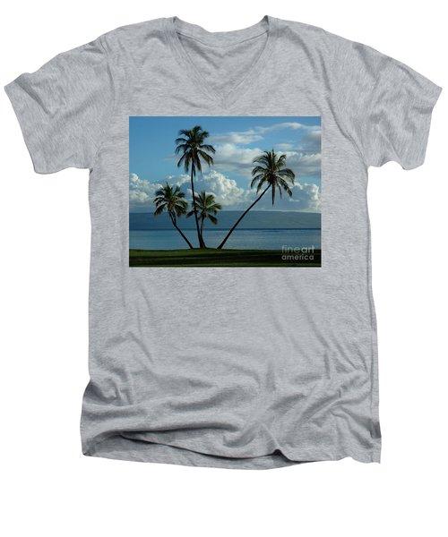 A Little Bit Of Paradise Men's V-Neck T-Shirt