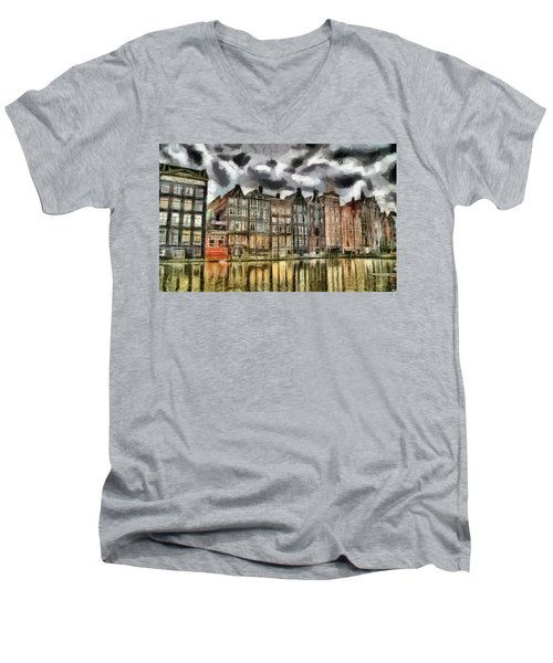 Amsterdam Water Canals Men's V-Neck T-Shirt
