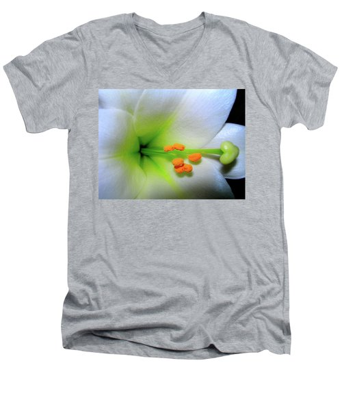 Men's V-Neck T-Shirt featuring the photograph   Easter A New Beginning  by Randy Rosenberger