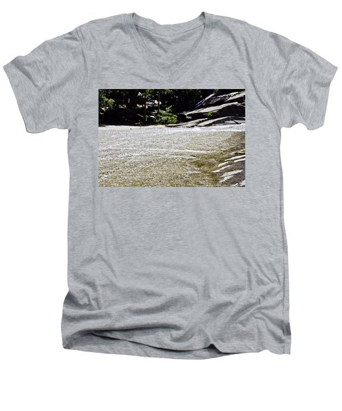 Men's V-Neck T-Shirt featuring the photograph  Granite River by Brian Williamson