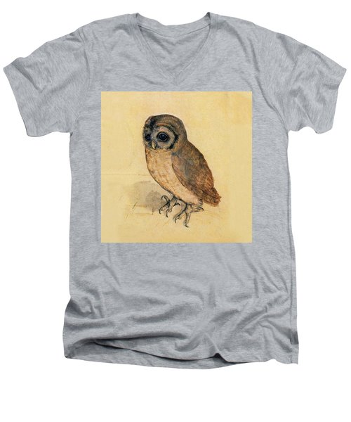 Little Owl Men's V-Neck T-Shirt by Albrecht Durer