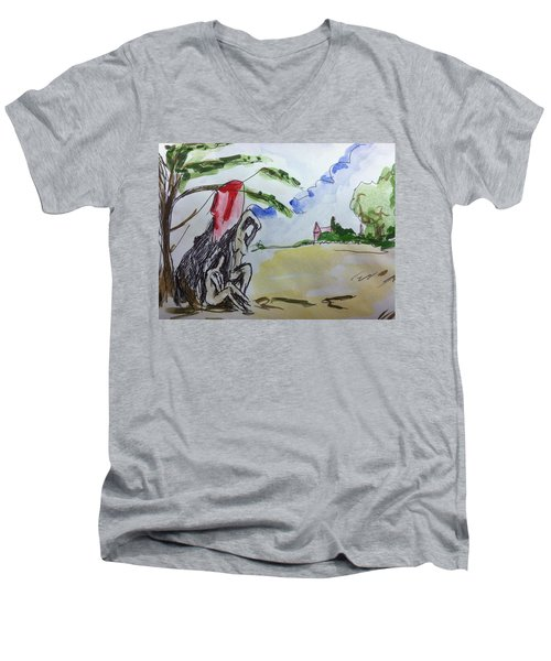 Memory Of  Paul Cezanne Men's V-Neck T-Shirt