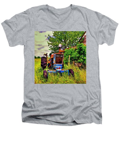 Old Ford Tractor Men's V-Neck T-Shirt by Savannah Gibbs