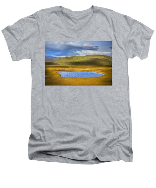 Patagonian Lakes Men's V-Neck T-Shirt