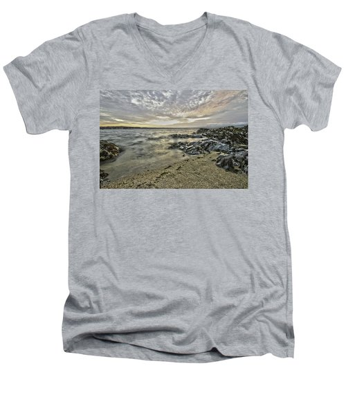 Skerries Ocean View Men's V-Neck T-Shirt by Martina Fagan