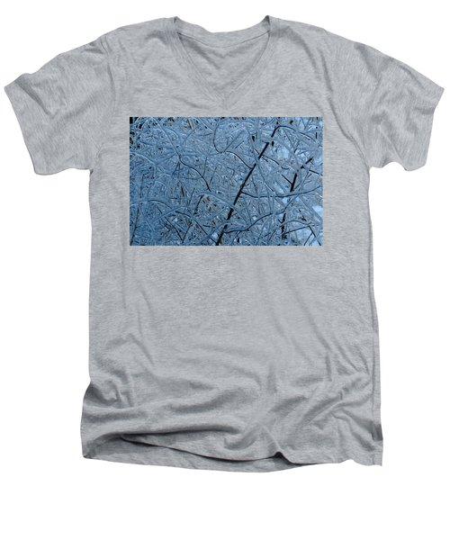 Vegetation After Ice Storm  Men's V-Neck T-Shirt