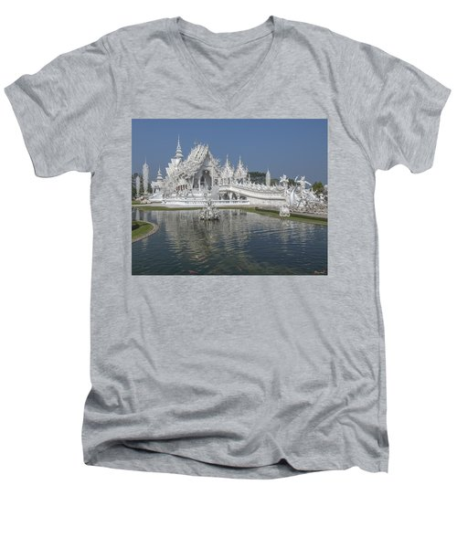 Wat Rong Khun Ubosot Dthcr0001 Men's V-Neck T-Shirt