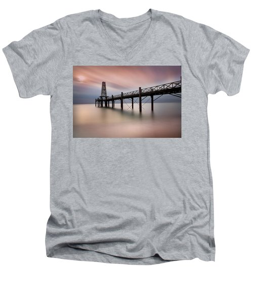 Wooden Pier Men's V-Neck T-Shirt