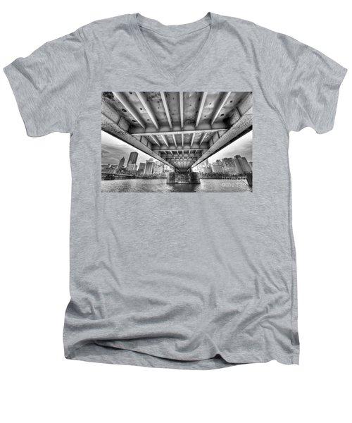 0308 Pittsburgh 5 Men's V-Neck T-Shirt by Steve Sturgill