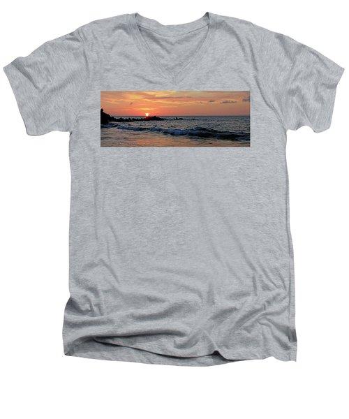 0581 Maui Sunset 2 Men's V-Neck T-Shirt by Steve Sturgill