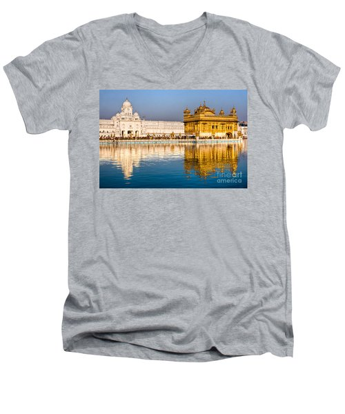 Golden Temple In Amritsar - Punjab - India Men's V-Neck T-Shirt by Luciano Mortula