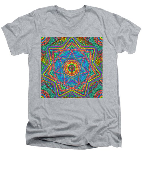 1 26 2014 Men's V-Neck T-Shirt by Hidden  Mountain