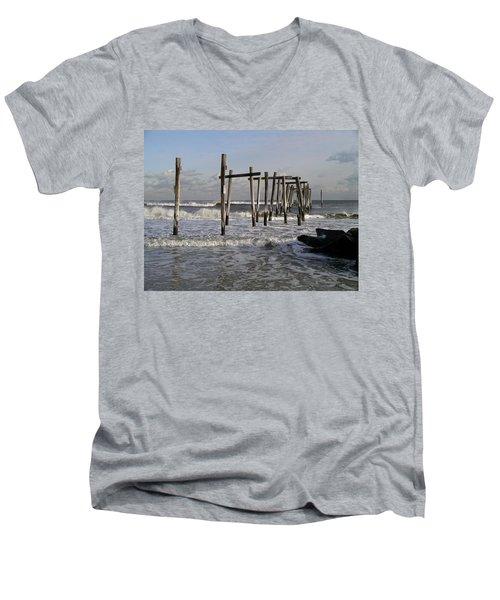 59th St. Pier Men's V-Neck T-Shirt