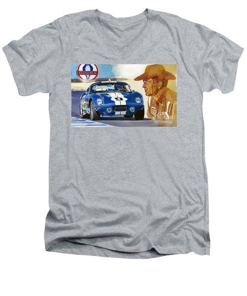 64 Cobra Daytona Coupe Men's V-Neck T-Shirt