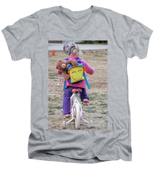 A Child's Adventure Men's V-Neck T-Shirt by Suzanne Oesterling