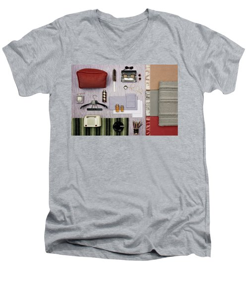 A Group Of Household Objects Men's V-Neck T-Shirt