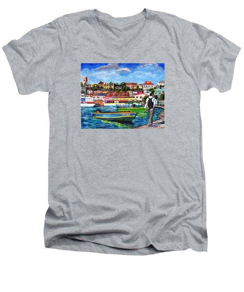 A Stroll On The Carenage Men's V-Neck T-Shirt