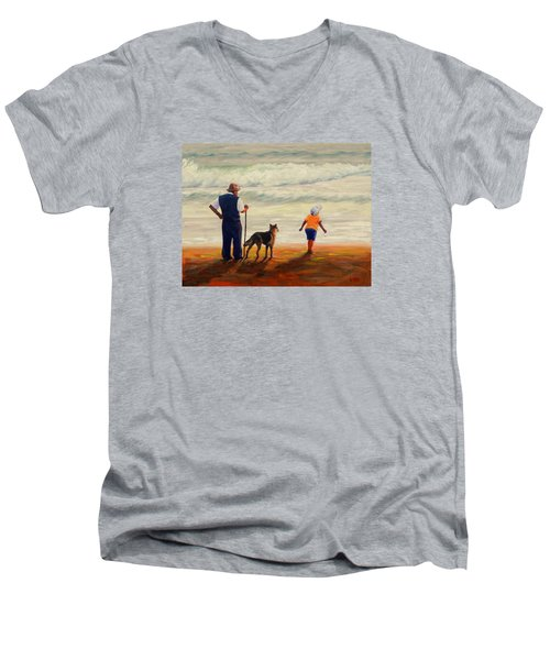 A Wish To The Waves Men's V-Neck T-Shirt
