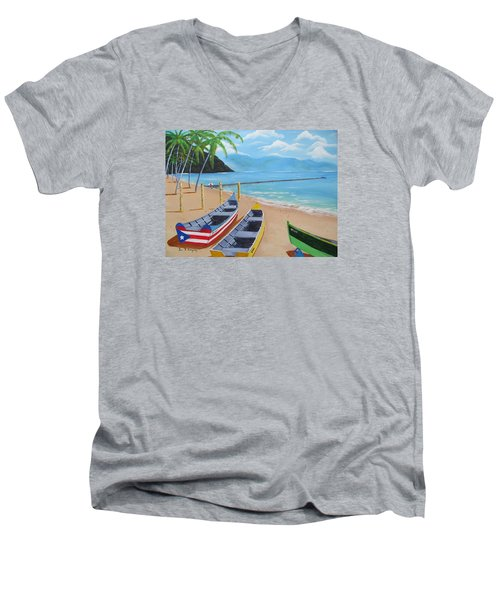 Aguadilla Crashboat Beach Men's V-Neck T-Shirt