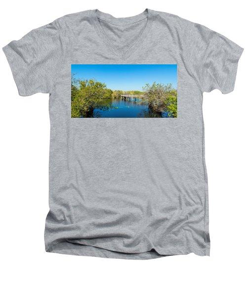 Anhinga Trail Boardwalk, Everglades Men's V-Neck T-Shirt